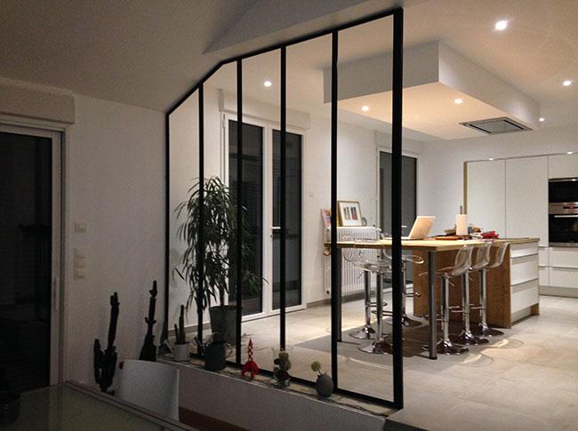 Verri re d 39 int rieur conception et installation rennes for Prix verriere interieure acier